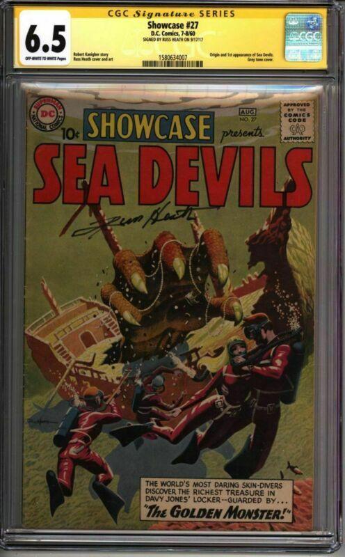 * SHOWCASE #27 CGC 6.5 1st SEA DEVILS! SS Russ Heath Grey Tone! (1580634007) *