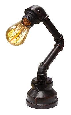 Vintage Industrial Steampunk Rustic Copper Water Pipe Bedside Desk Lamp T1003