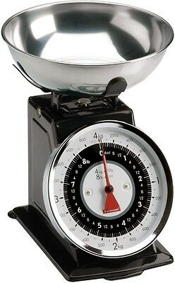 Typhoon Stainless Steel Retro Mechanical Kitchen Scale Black New in Box