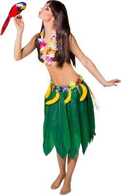 Orl - Kostüm Zubehör Hawaii Bananen Blätterrock Karneval Fasching (Bananen Kostüme Halloween)