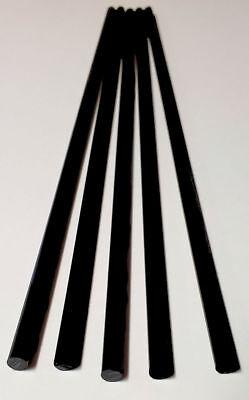 5 Pc 14 X 12 Inch Long Black Acrylic Plexiglass Lucite Rod .25 Diameter