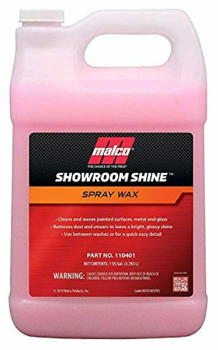 malco showroom shine spray car wax best