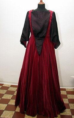 Rotes Samtkleid Theaterkleid Brokat Theaterkostüm Kostümfundus Samt Kleid rot