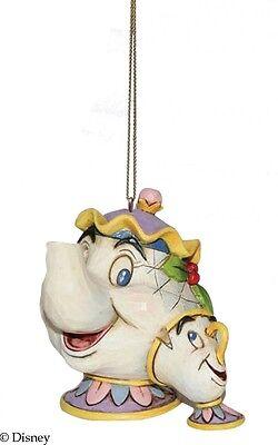 Disney Traditions Mrs Potts & Chip Hanging Ornament Resin Figurine Xmas Gift Box