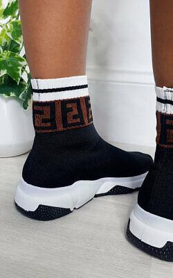 IKRUSH Womens Rennie Printed Chunky Sock Trainers