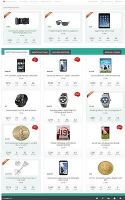 Online Auction Website Business For Sale Mobile Responsive Site