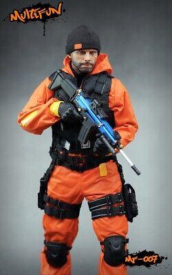 1/6 MULTIFUN Quarantine Zone Agent Clothing Suit Model MF007 F 12'' Male Figure