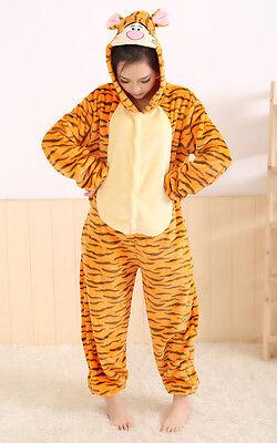 Halloween Sprung Tiger Onesiee Kigurumi Kostüm Kostüm Pyjama - Tiger Kostüm Halloween