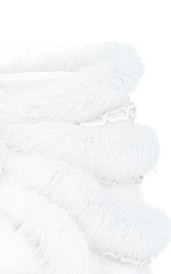 EXQUISITE J. MENDEL White Ivoire Shadow Fox Fur Chain Link STOLE wedding