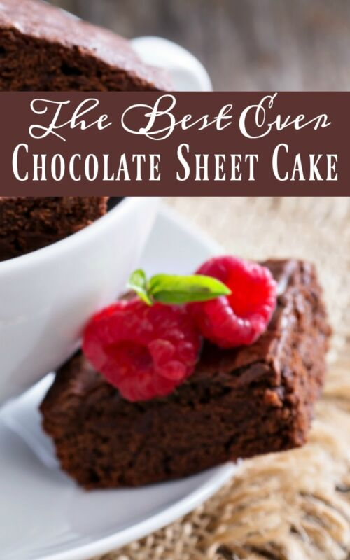 The Best Chocolate Sheet Cake Ever Recipe — Dishmaps