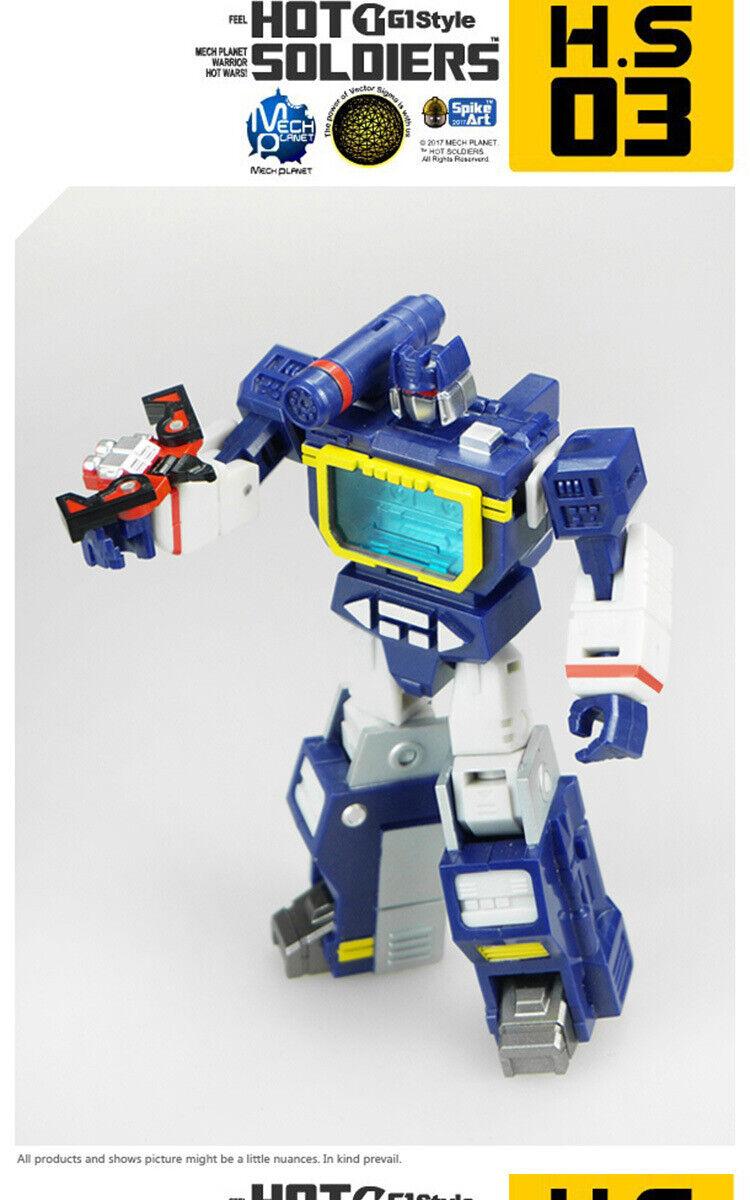Hot Soldiers HS03T Robot Soundwave With Laserbeak Ratbat New In Stock