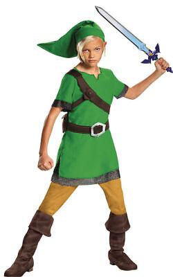 Morris Costumes Kid's Unisex Link Classic Green Tunic Costume 10-12. DG85718G - Link Girl Costume