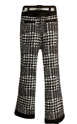 NWT 100% Authentic MONCLER Women GRENOBLE Houndstooth Ski Pants Size 40 ( US XS)