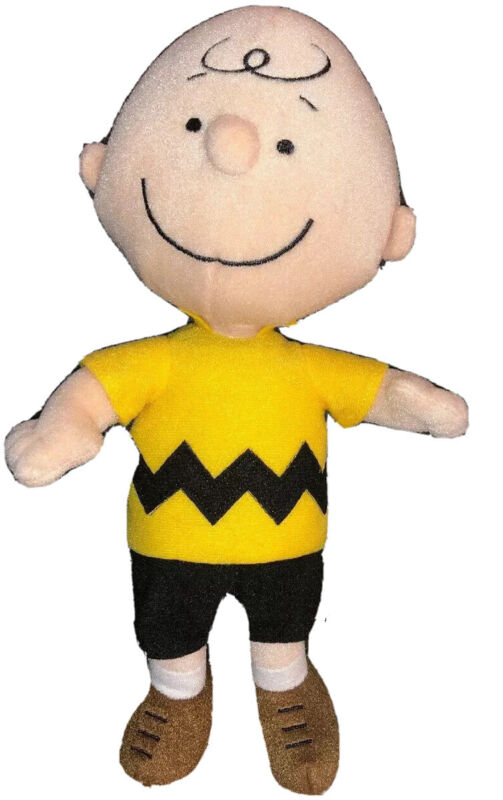 "Charlie Brown PEANUTS 12"" Plush Aurora NWOT"