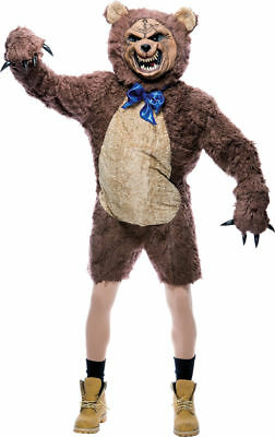 Morris Costumes Adult Unisex New Cuddles Bear Complete Outfit One Size. PM809597](Adult Bear Costumes)