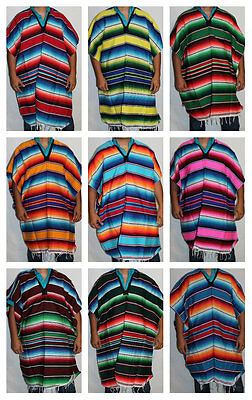 Adult Mexican Poncho Sarape Costume Mexican Fiesta Cinco de Mayo Halloween
