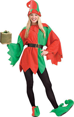 Morris Costumes Women's Santa'S Helper Elf Red Green Complete Outfit. FM62596