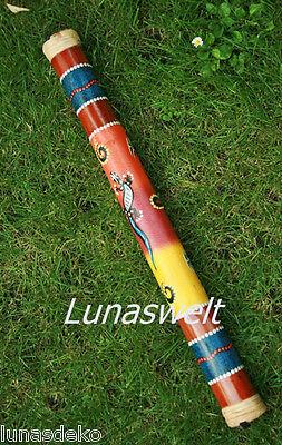 Rainstick Regenmacher Bambus bemalt 60 cm Neu