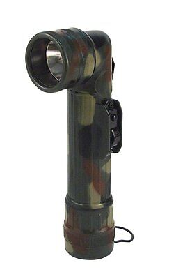 Angle Head Flashlight G.I.Type D Cell  Woodland Camo 691 Rothco  (Cell Angle Head Flashlight)