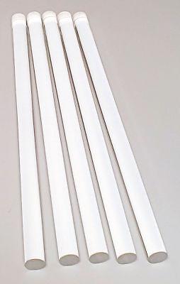 5 Pieces Clear Acrylic Plexiglass Lucite Rod 58 Diameter 12 Long Free Ship