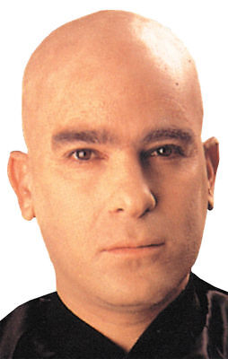 Morris Costumes Men's Professional Quality Woochie Flesh Bald Cap. - Costume Bald Cap
