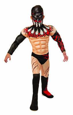 Wrestler Halloween Costume (Rubies WWE Finn Balor Wrestler Muscles Deluxe Childrens Halloween Costume)