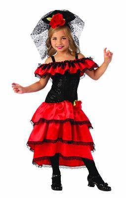 Rubies Spanische Tänzer Flamenco Tango Kleid Kinder Halloween Kostüm - Spanischer Tänzer Kinder Kostüm