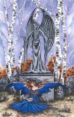 Amy Brown Fairy Faery Fantasy Art Print The Letter Angel Guardian Statue Garden