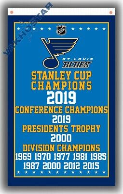 St.Louis Blues CHAMPIONS all Y team Fans flag Hockey Best banner 90x150cm