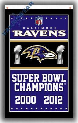 mpions team Memorable flag 90x150cm 3x5ft best banner (Baltimore Ravens Banner)