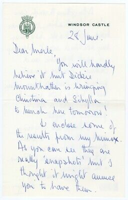 Windsors PRINCE PHILIP 1968 Signed HANDWRITTEN Letter Autograph to MERLE OBERON