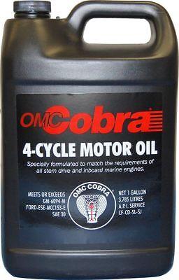 OMC Cobra 4-Cycle Motor Oil for Sterndrive Engines 1 Gallon OEM - Omc Cobra Oil