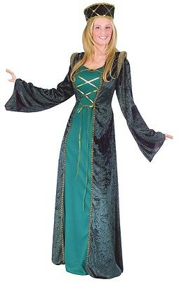 Medieval Lady In Waiting Costume (Lady in Waiting Costume Dress Adult Medieval Renaissance Queen Princess -S/M)