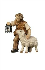Boy-with-sheep-and-lantern-statue-wood-carving-for-Nativity-set-mod-912