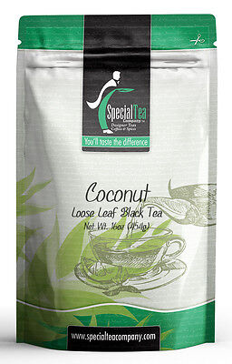 16 oz. Coconut Gourmet Loose Black Tea Includes Free Tea Infuser ()