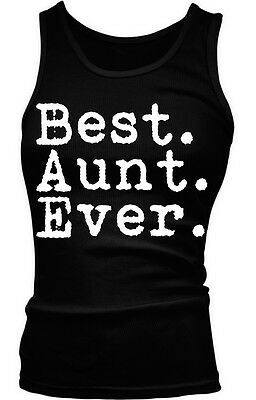 Best Aunt Ever Period - Family Favorite Funny Sayings Boy Beater Tank