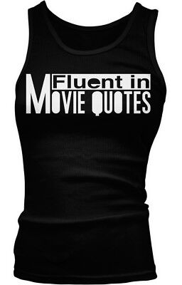 Top Boy Movie (Fluent in Movie Quotes- Movie Buff- Funny Sayings Slogans Boy Beater Tank)