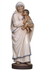 Statua-Madre-Teresa-di-Calcutta-cm-30-In-legno-scolpita-a-mano-Foglio-oro