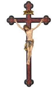 Crucifix-wood-carving-for-wall-with-baroque-gold-cross-mod-83413