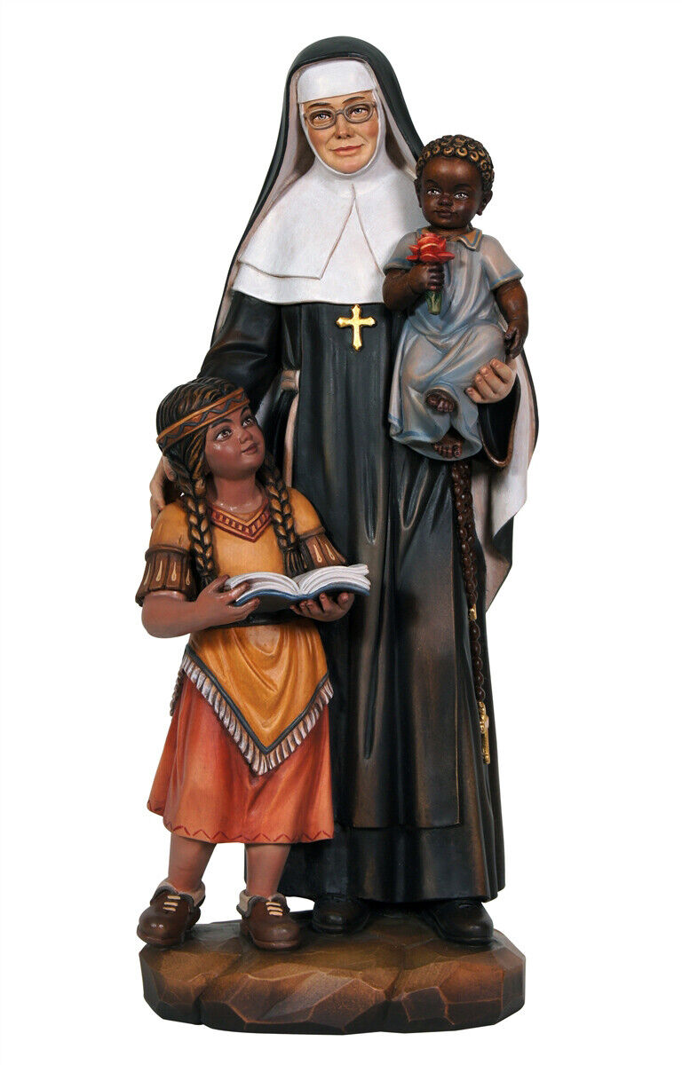 Statue S. Caterina Drextel - Woodcarving Wood