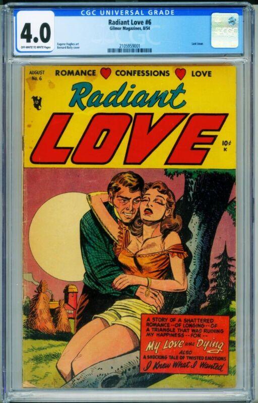 Radiant Love #6 CGC 4.0-SUPER RARE Headlights GGA romance 2105959001