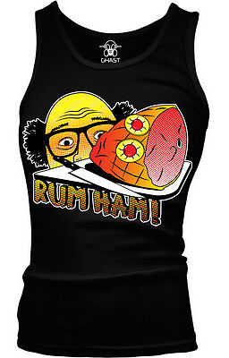 Rum Ham Television Show Parody Recipe Food Booze Meme Joke Funny Girls Tank Top (Black Rum Recipes)