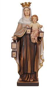 Statua-Madonna-del-Carmelo-cm-30-In-legno-scolpita-a-mano-Foglio-oro