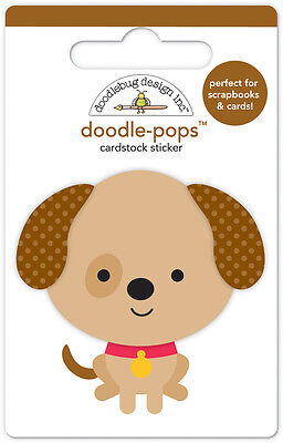 Scrapbooking Crafts Cards Doodlebug CS Stickers 3D Doodle-pops Sparky Dog Circle