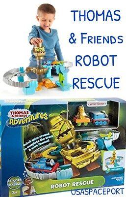 THOMAS & Friends Giant ROBOT RESCUE Adventure Train Track Set Die-Cast Car (Giant Thomas The Tank Engine Train Set)
