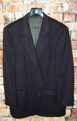 Mens 46 L Jack Victor X Loro Piana 100 % Cashmere Navy Blue Blazer