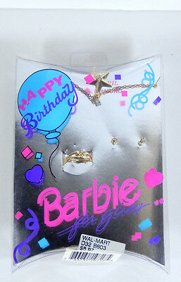 NEW BARBIE DOLL FOR GIRLS BIRTHSTONE HAPPY BIRTHDAY JEWELRY SET  CUTE!!