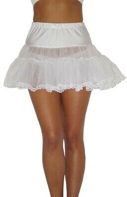 Petticoat Unterrock Mini Tütü Tüllrock weiß passend für Gr. 36 38 ()