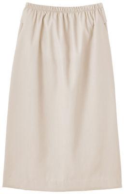 (Fundamentals Women's Elastic Waist Back Kick Pleat Scrub Skirt. 14231)