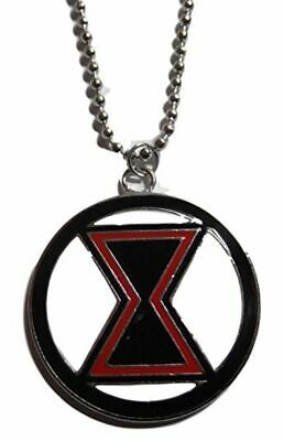 Black Widow Necklace (Black Widow Logo Metal Pendant Necklace)